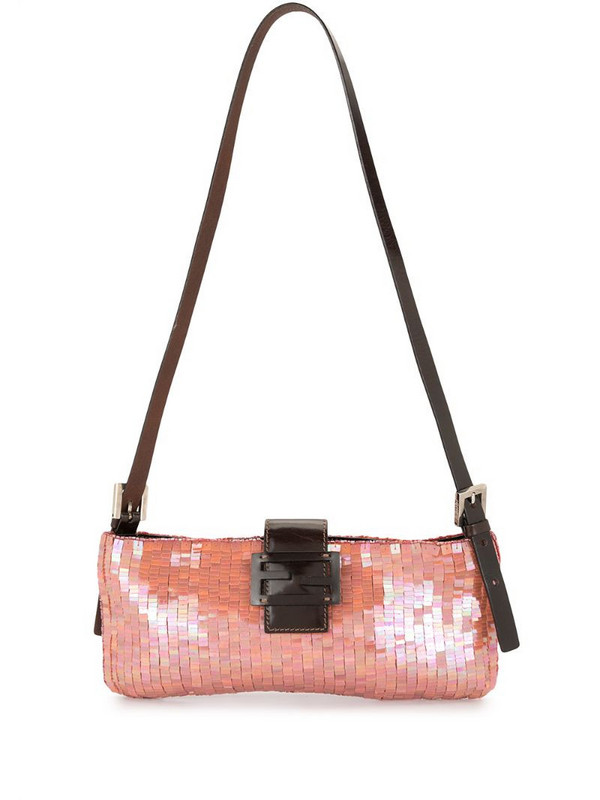 Fendi Pre-Owned sequin-embellished shoulder bag in pink