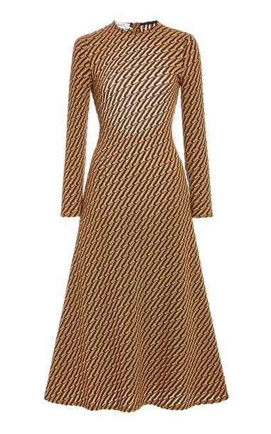 Beaufille Kubin Jacquard-Knit Midi Dress in multi