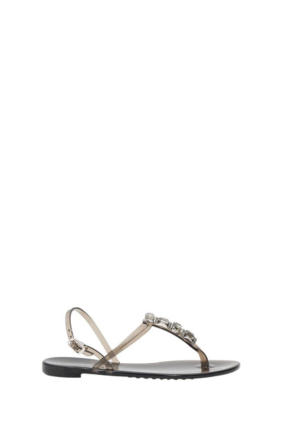 Casadei Jelly Sandals With Stones in stone / nero