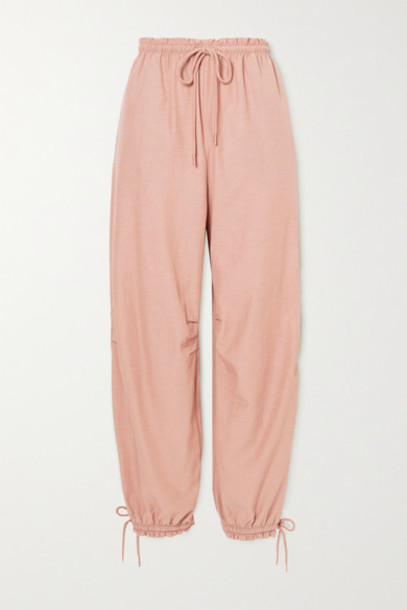 See By Chloé See By Chloé - Tie-detailed Crepe Tapered Pants - Light brown