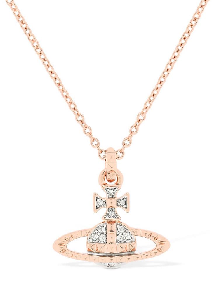 VIVIENNE WESTWOOD Mayfair Orbit Pendant Necklace in gold / rose