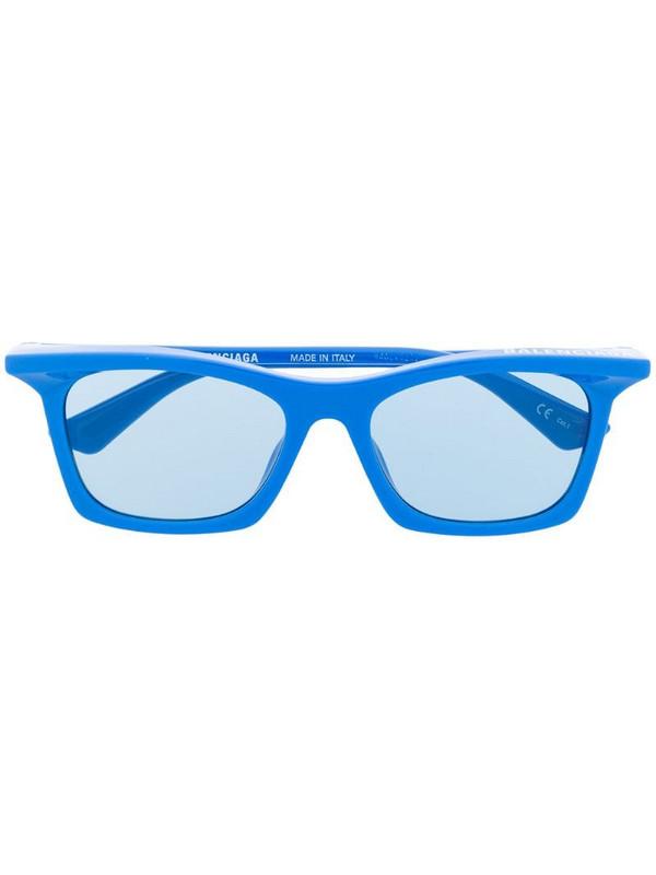 Balenciaga Eyewear Rim rectangular-frame sunglasses in blue