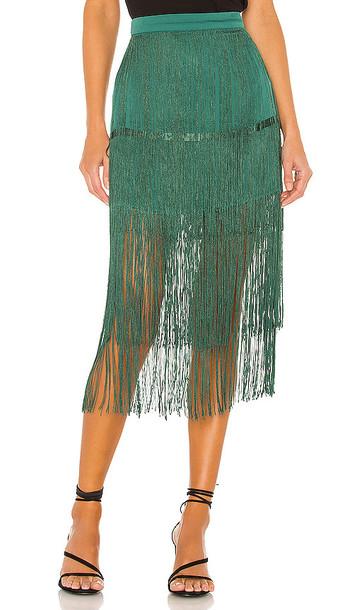 House of Harlow 1960 x REVOLVE Andres Fringe Skirt in Green