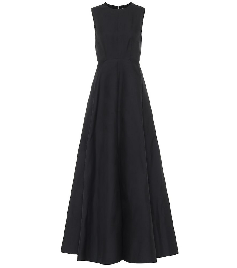 Valentino Cotton and silk gown in black