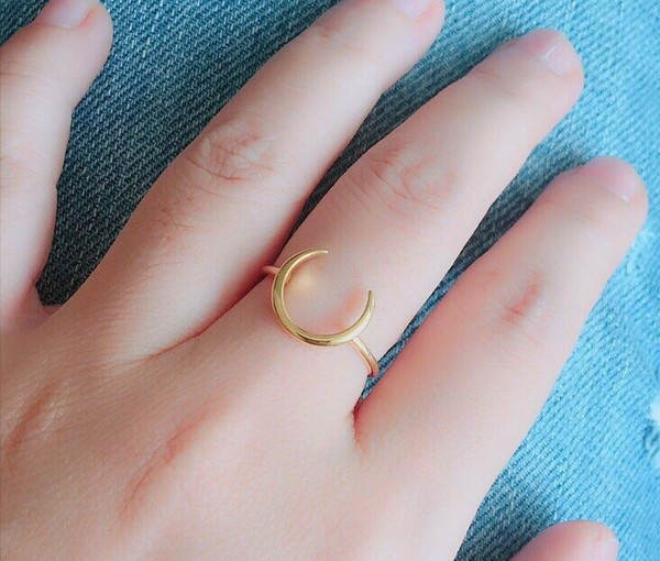 jewels astyleunique moon rings mother day gifts minimalist jewelry cute rings engagement ring silver ring hand jewelry