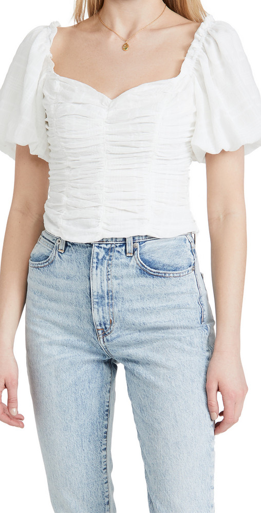 ASTR the Label Tenley Top in white