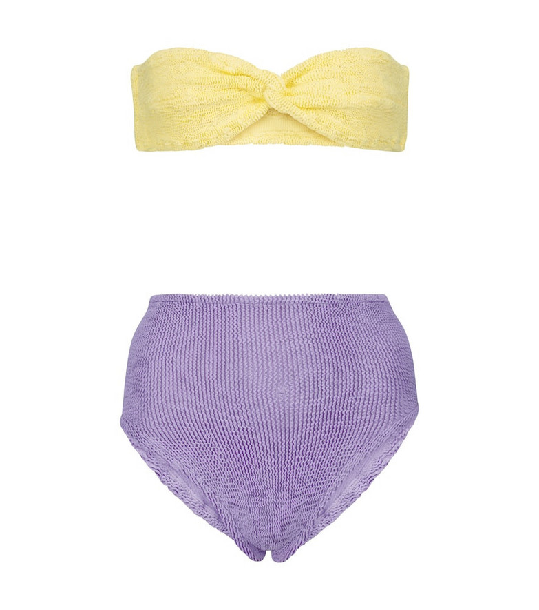 Hunza G Exclusive to Mytheresa – Stella bandeau bikini in yellow