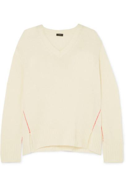 Joseph - Striped Cashmere Sweater - Ecru