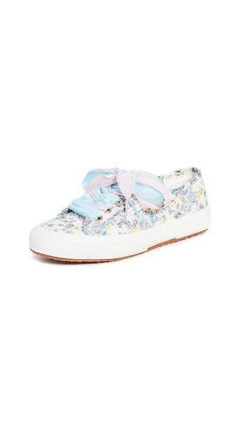 Superga x LoveShackFancy 2750 Barefoot Floral Sneakers in pink