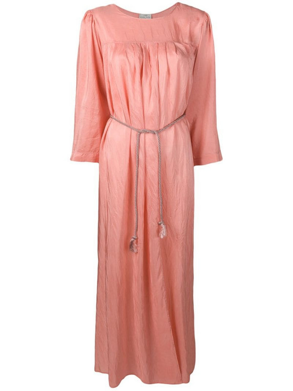 Forte Forte long ruched tunic dress in pink