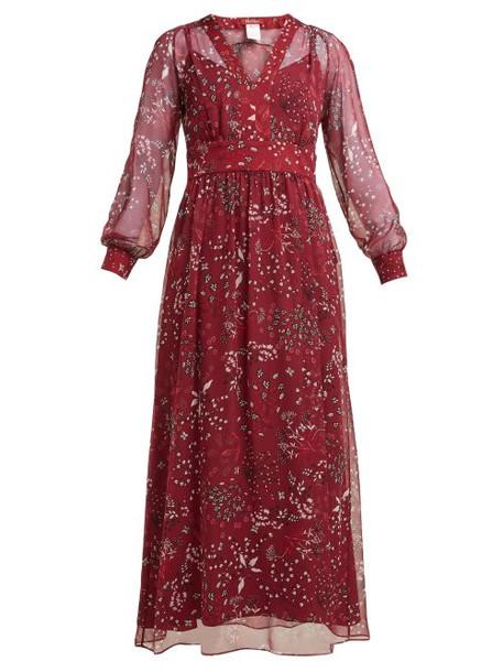Max Mara Studio - Shock Dress - Womens - Burgundy Print