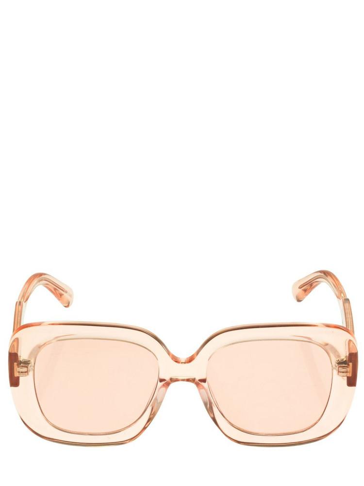 CHIMI 10 Bold Squared Acetate Sunglasses in pink