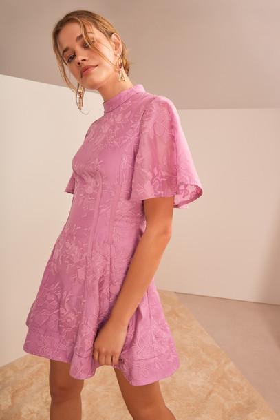 KEEPSAKE WONDERLAND MINI DRESS lilac