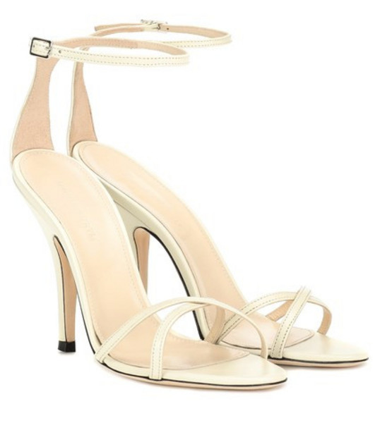 Magda Butrym Ireland leather sandals in white