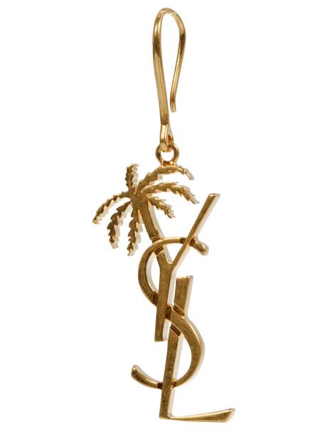 Saint Laurent Monogram Palmier Earrings