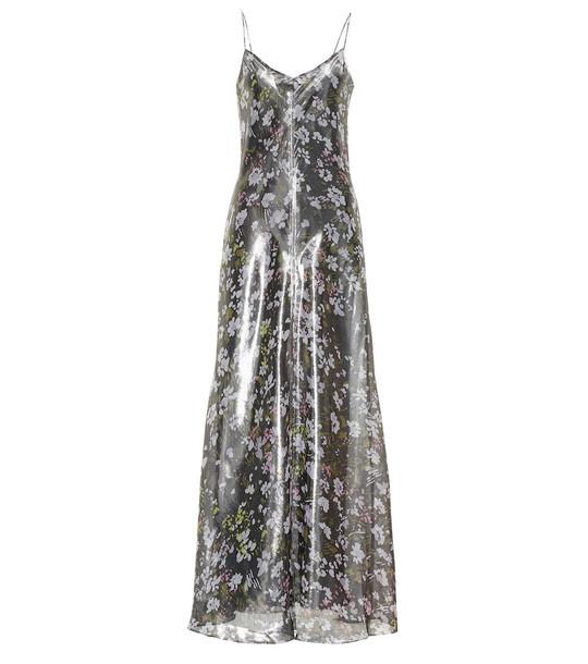 Ganni Metallic silk dress