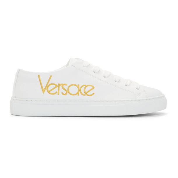 Versace White Vintage Logo Tribute Sneakers