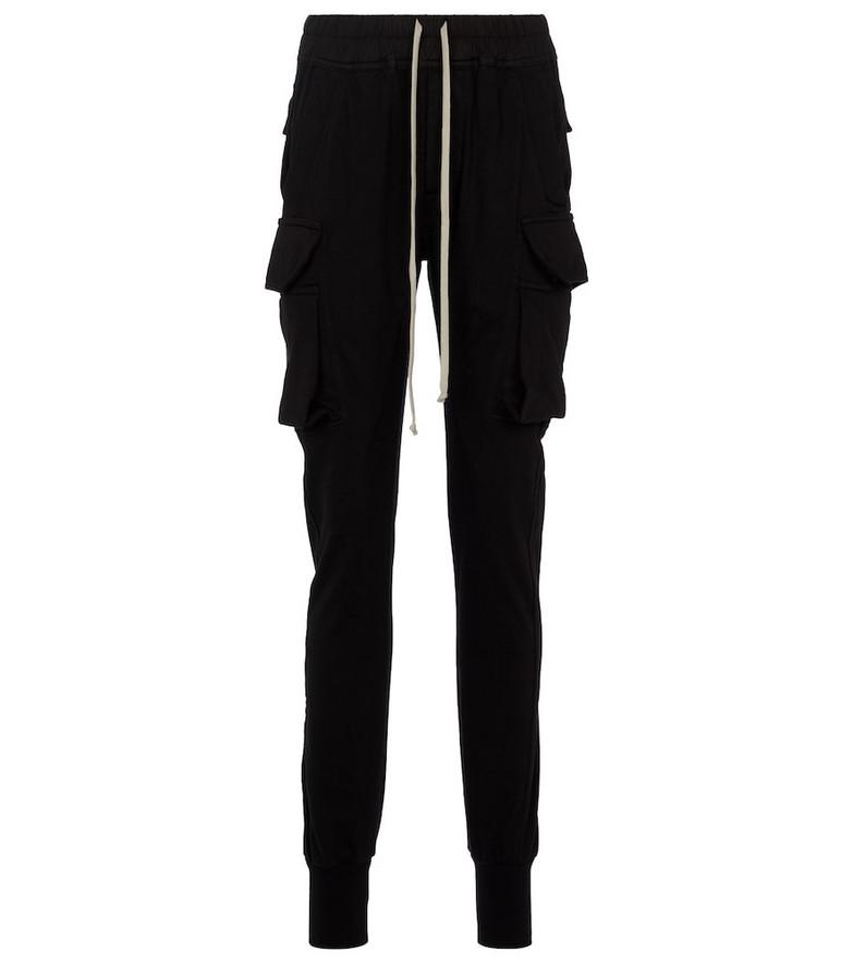 Rick Owens Cotton jersey sweatpants in black