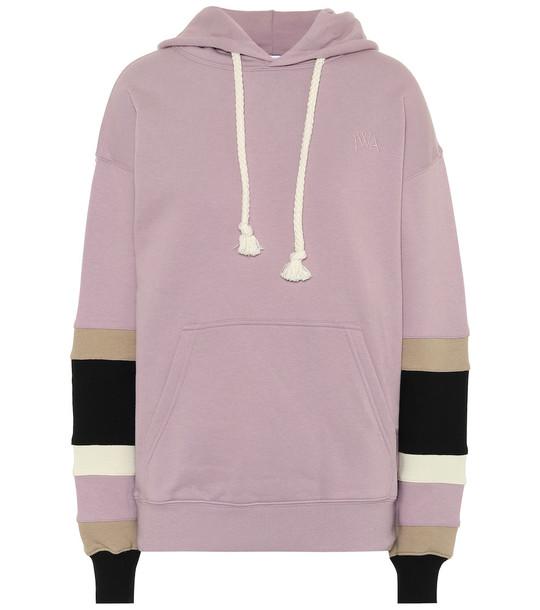 JW Anderson Cotton hoodie in purple