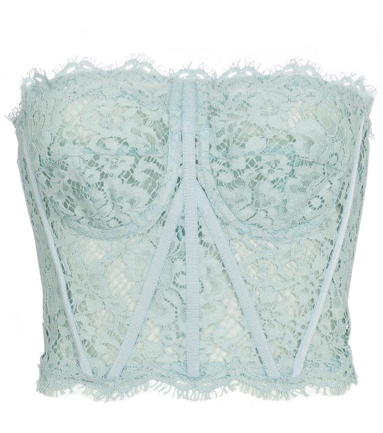 Dolce & Gabbana Lace bustier in blue