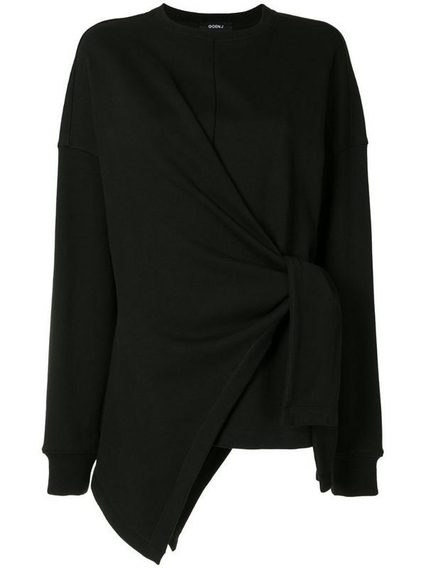 Goen.J knot detail jumper in black
