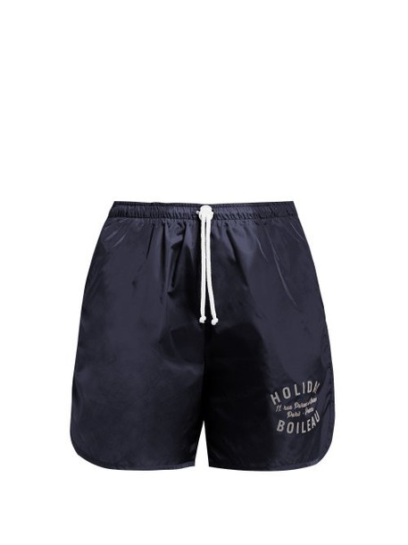 shorts navy print