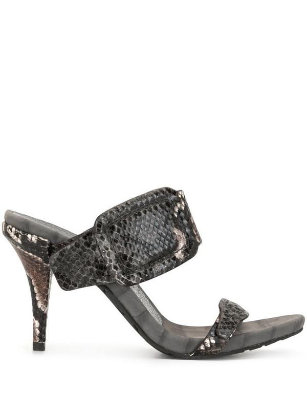 Pedro Garcia snakeskin-effect slip-on sandals in brown