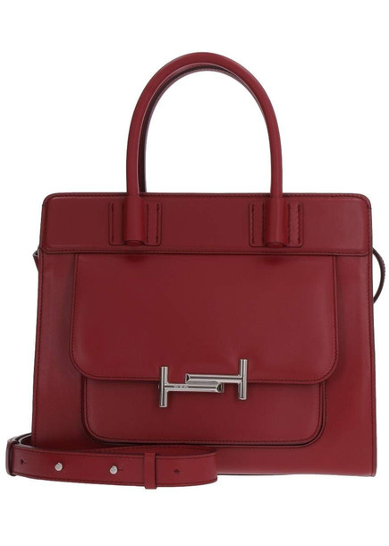 Tod's Smooth Leather Handbag in red