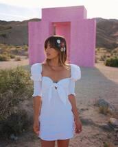 dress,white dress,mini skirt,short sleeve dress,mini dress,summer dress,white,festival dress,rocky barnes,instagram,blogger
