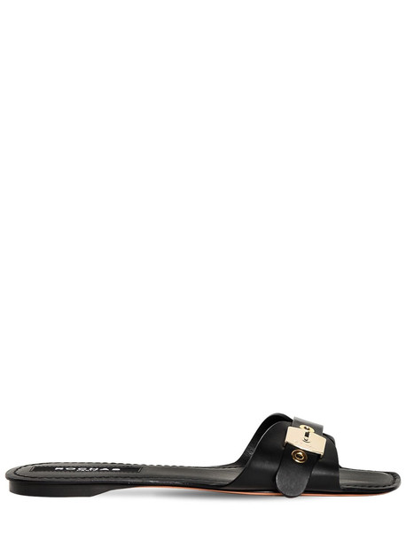 ROCHAS 10mm Leather Slides in black