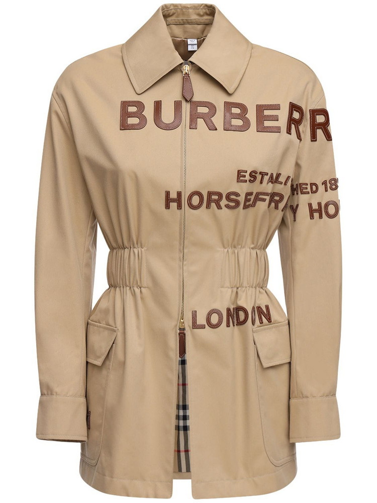 BURBERRY Cotton Canvas Field Jacket W/ Patches