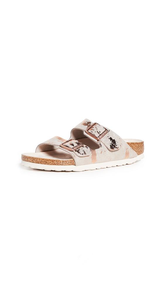 Birkenstock Arizona Sandals in metallic / copper / rose