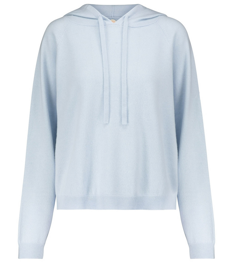 Jardin des Orangers Wool and cashmere hoodie in blue