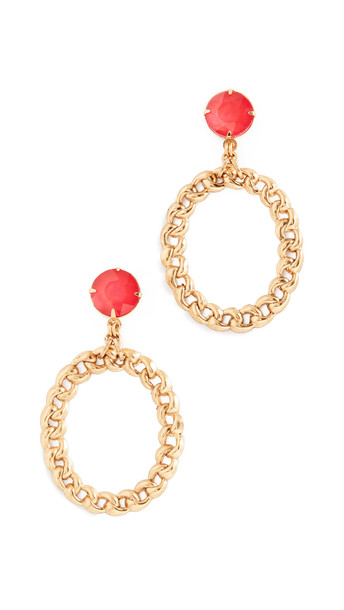 Elizabeth Cole Brielle Earrings in gold / pink