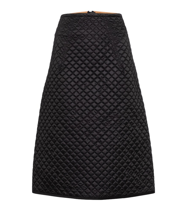 Moncler Genius 2 MONCLER 1952 quilted down midi skirt in black