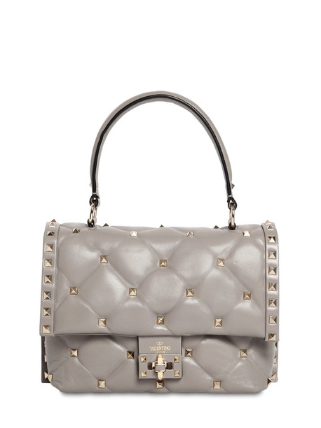 Valentino Garavani Candy Leather Bag in grey