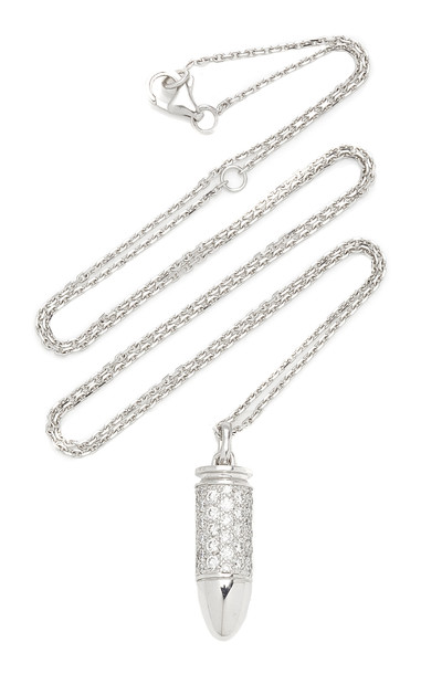Akillis Bang Bang 18K Gold Diamond Necklace in white
