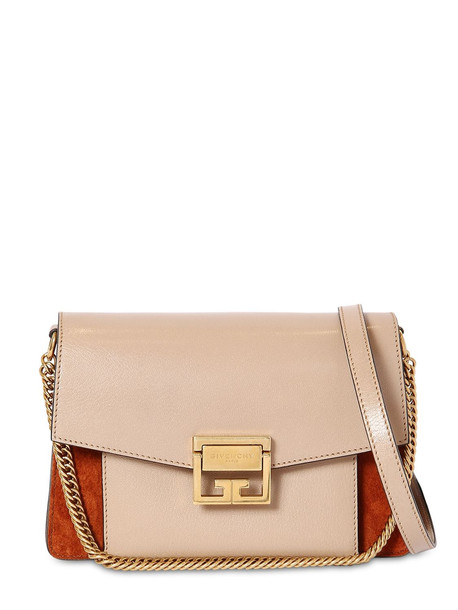 GIVENCHY Small Gv3 Ponyskin Printed Leather Bag in brown / beige
