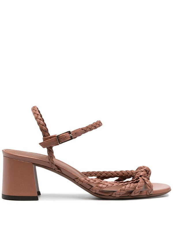 L'Autre Chose braided-strap leather sandals in pink