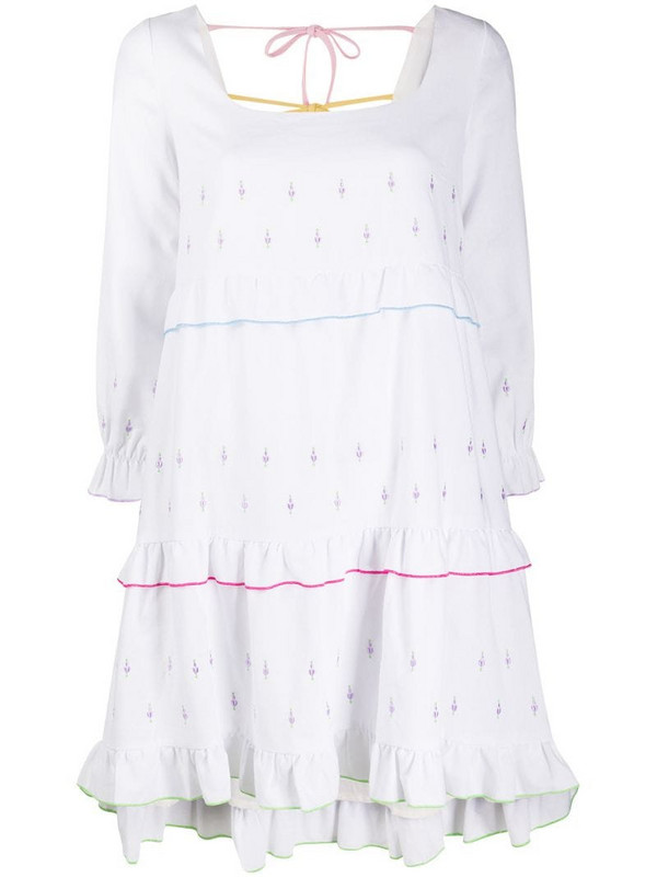 Olivia Rubin Odelia embroidered mini dress in white