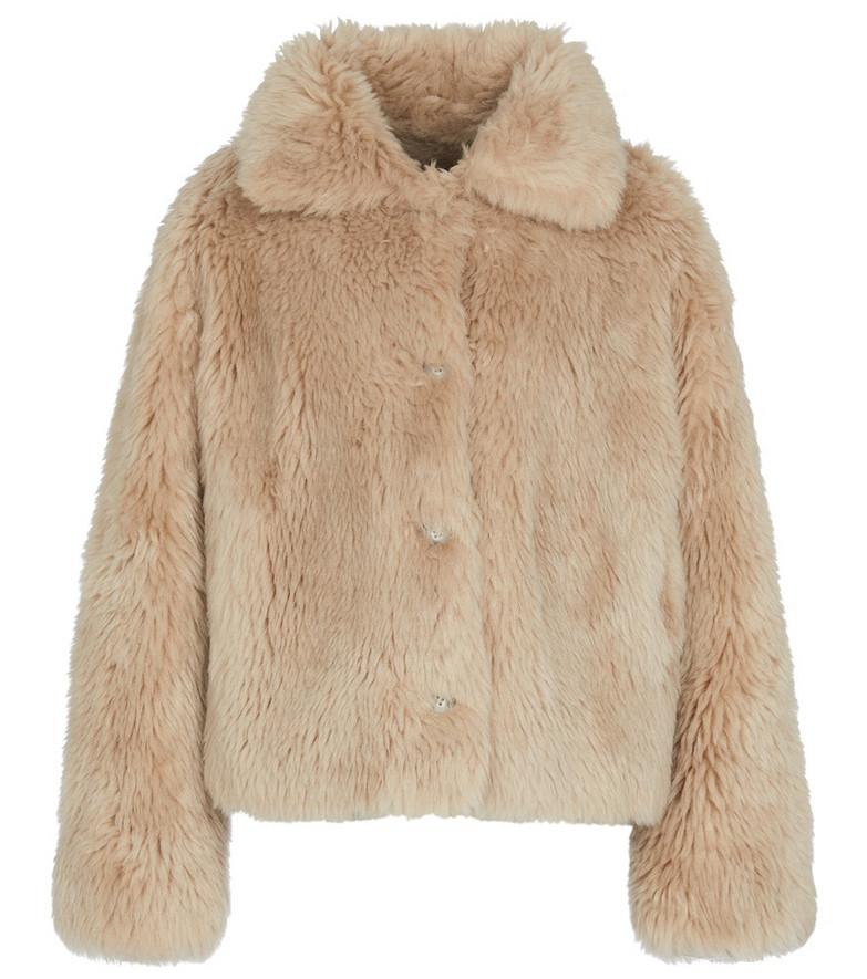 Yves Salomon Meteo wool jacket in beige