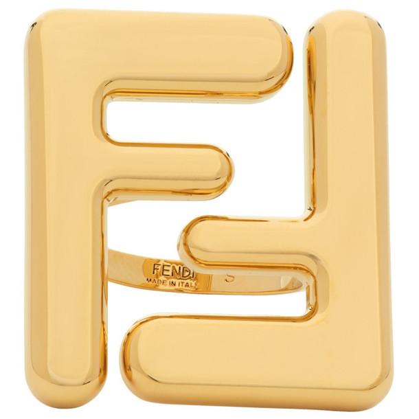 Fendi Gold Forever Fendi Maxi Logo Ring