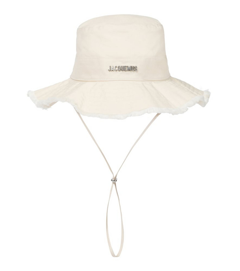 Jacquemus Le Bob Artichaut cotton bucket hat in white