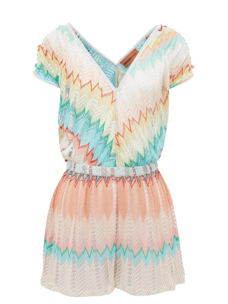 Missoni Mare - Sunset Metallic Zigzag Knit Playsuit - Womens - Multi