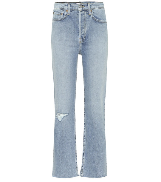Re/Done Stove Pipe high-rise jeans in blue