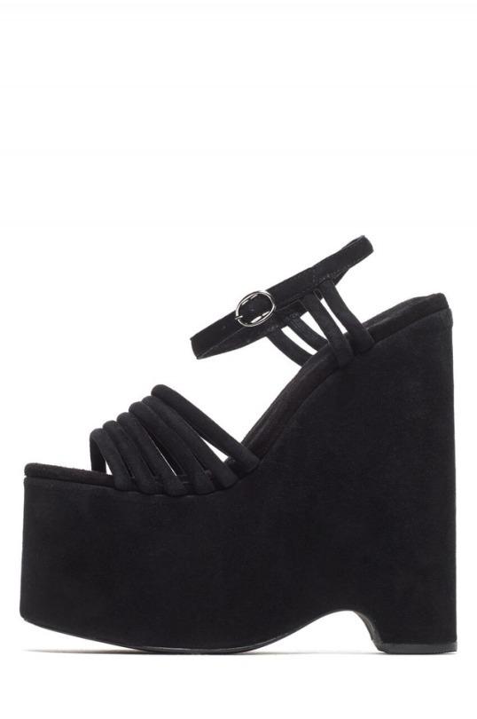 shoes platform shoes suede black