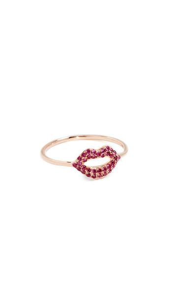 Sydney Evan 14k Rose Gold Lips Ring