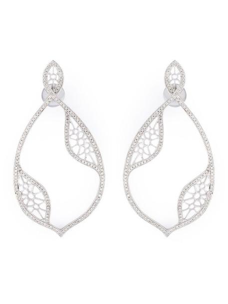Joëlle Jewellery diamond teardrop earrings in metallic
