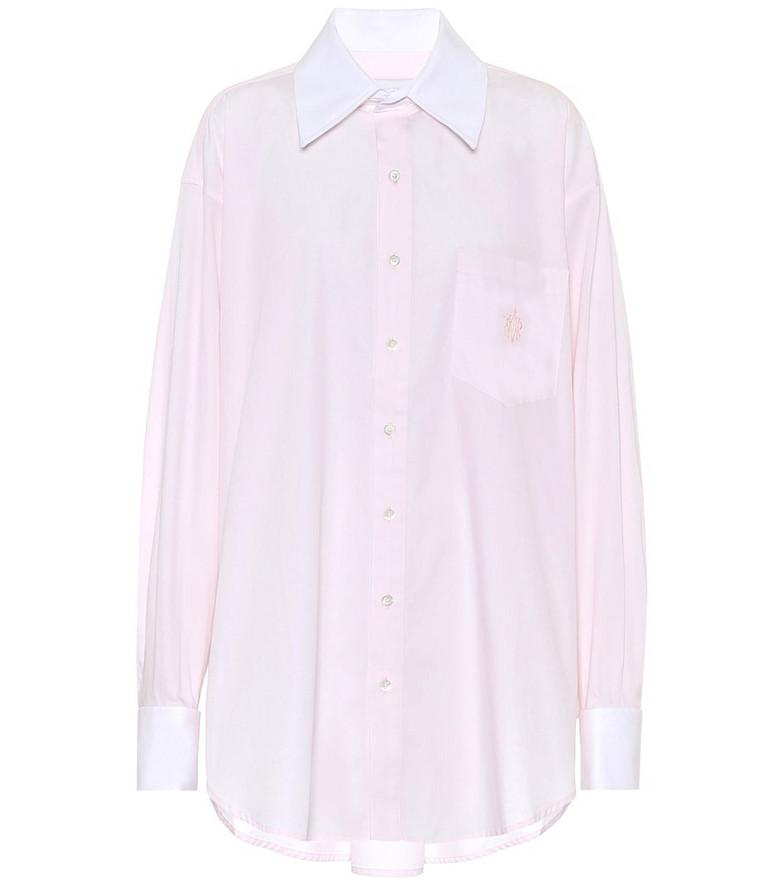 Matthew Adams Dolan Oversized cotton shirt in pink