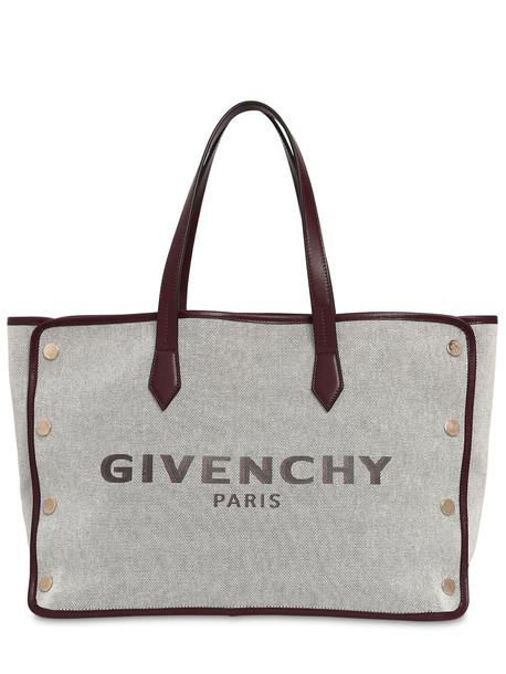 GIVENCHY Medium Bond Logo Canvas Tote Bag in natural